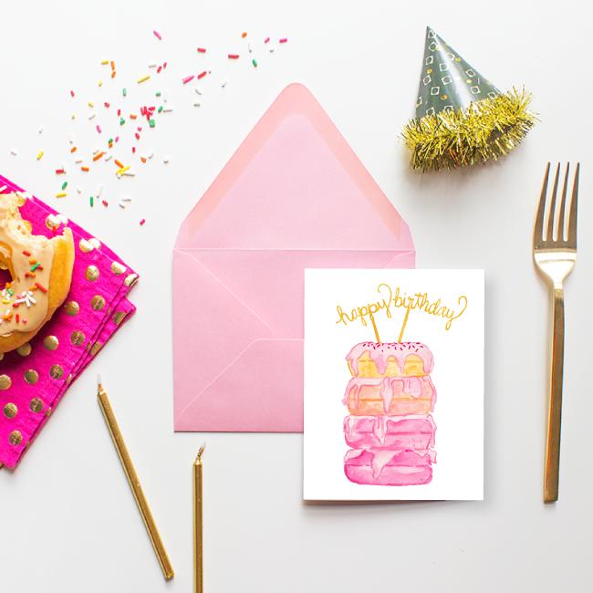 Donut Happy Birthday Card by Simply Jessica Marie