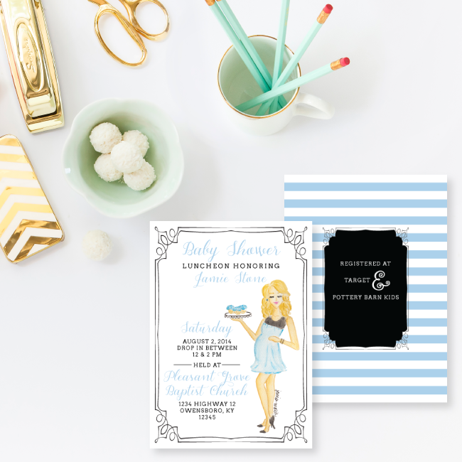Custom Baby Shower Invitations by Simply Jessica Marie
