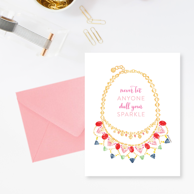 Never Let Anyone Dull Your Sparkle Stella & Dot Inspired Greeting Cards by Simply Jessica Marie