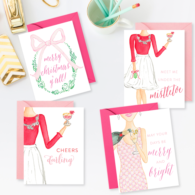 Simply Jessica Marie Christmas Card Set of 4