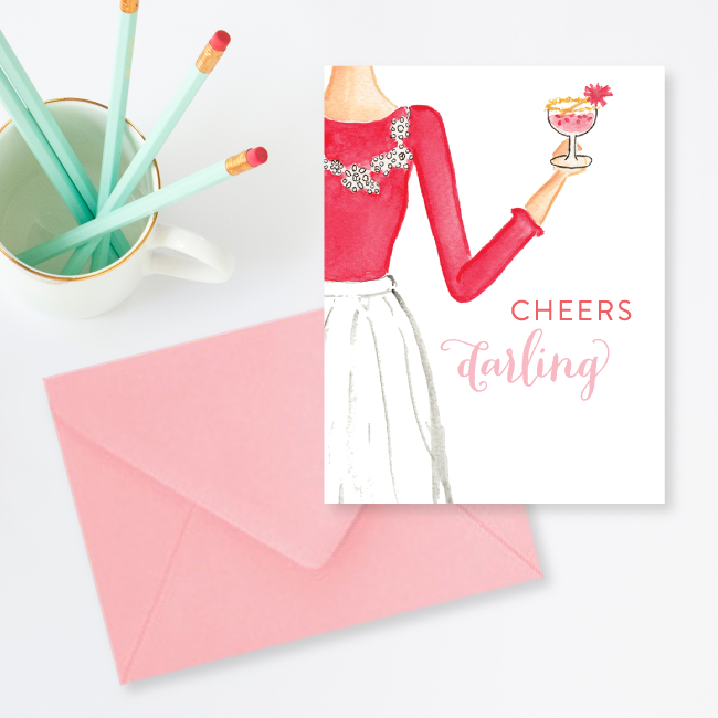 Cheers Darling Christmas Card by Simply Jessica Marie
