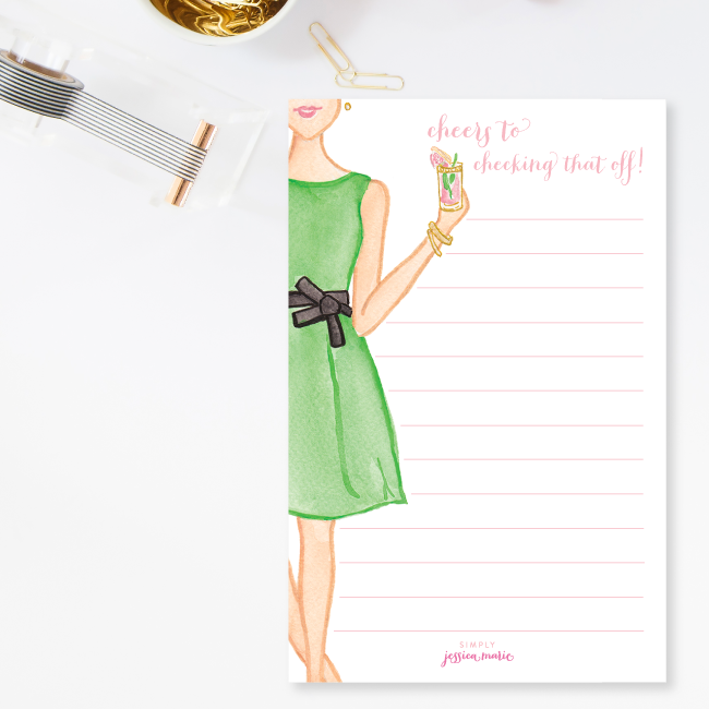 Cheers to Checking That Off Notepad by Simply Jessica Marie