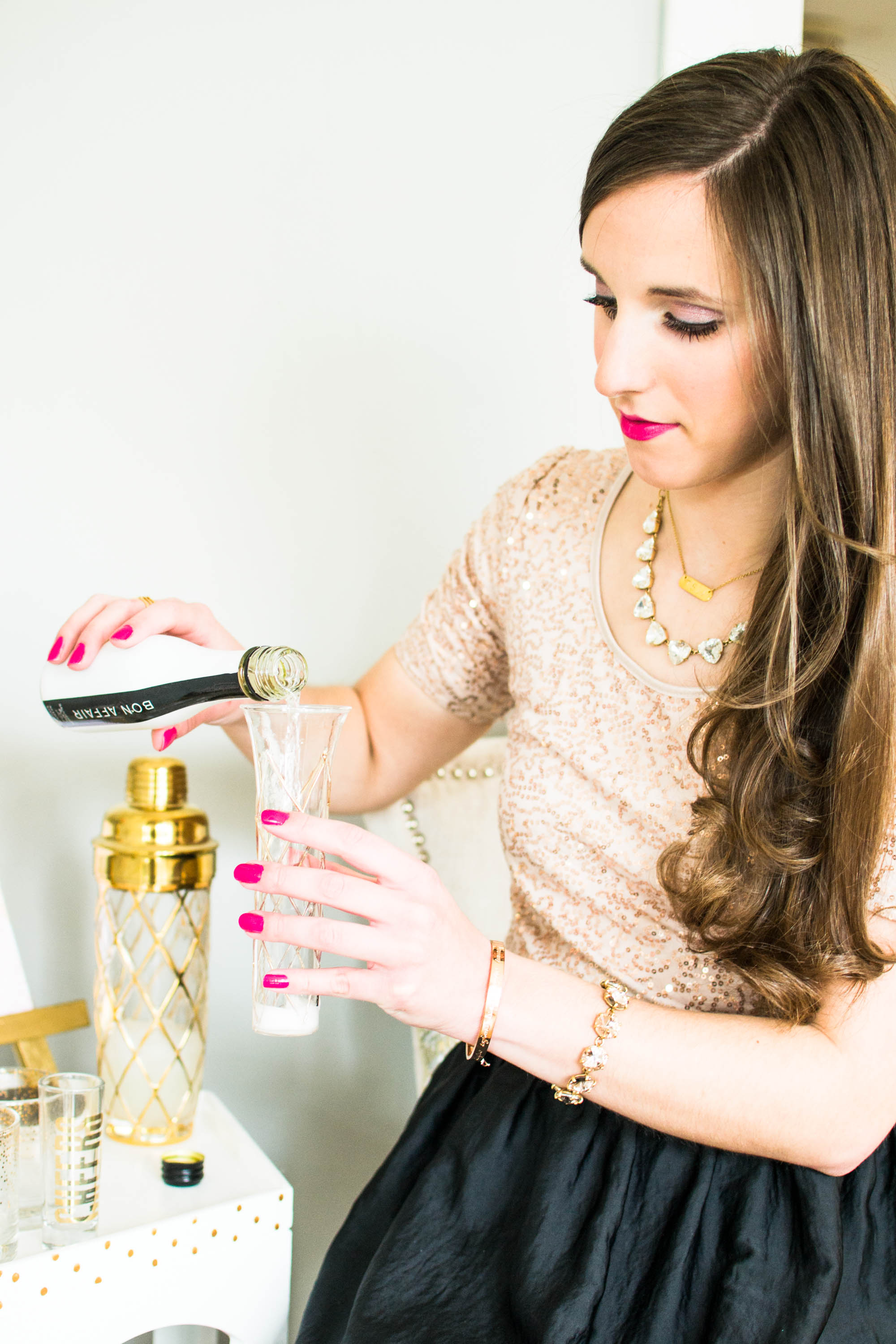 French 75 Cocktail Recipe by Simply Jessica Marie