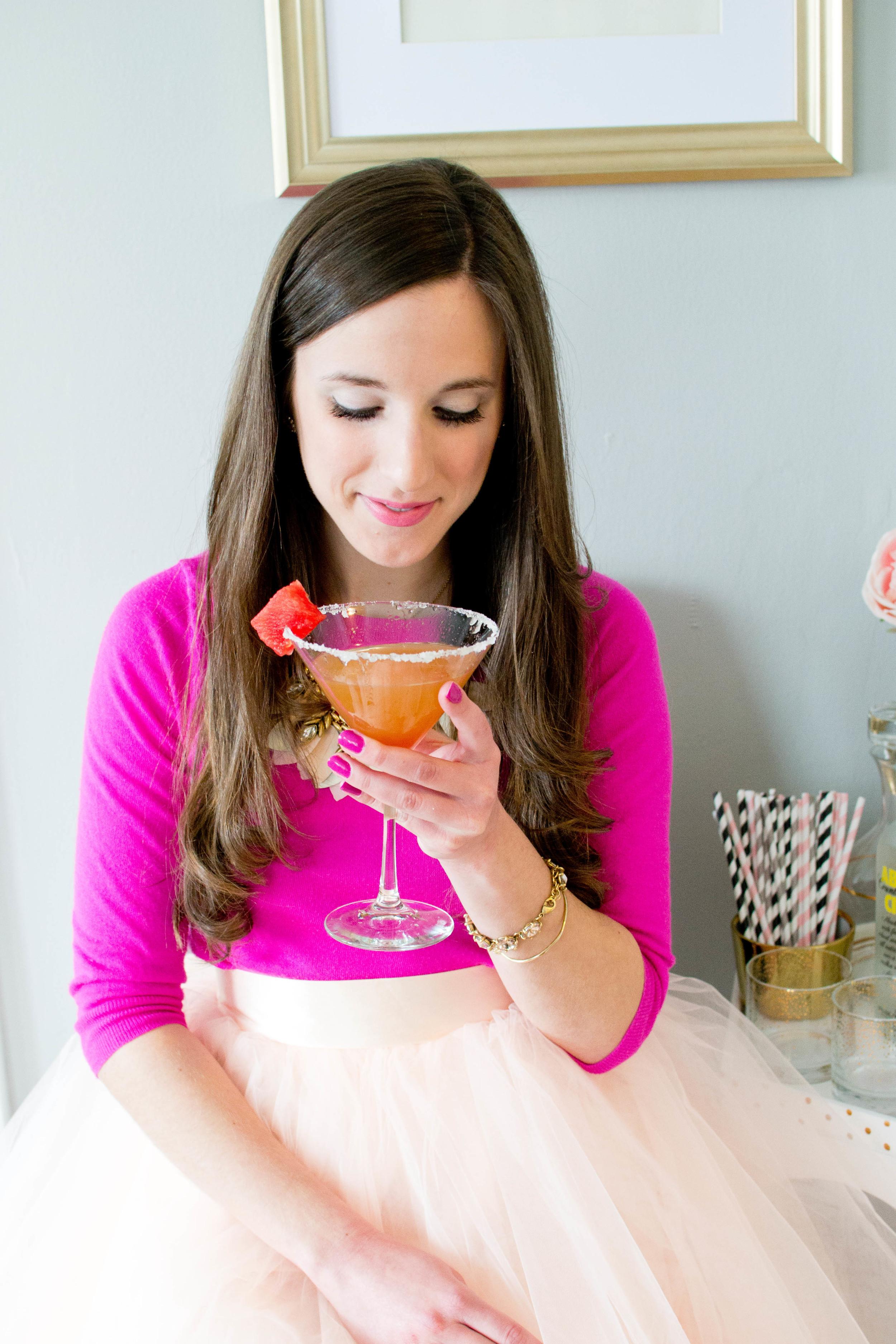 Watermelon Martini Recipe by Simply Jessica Marie | Zipporah Photography