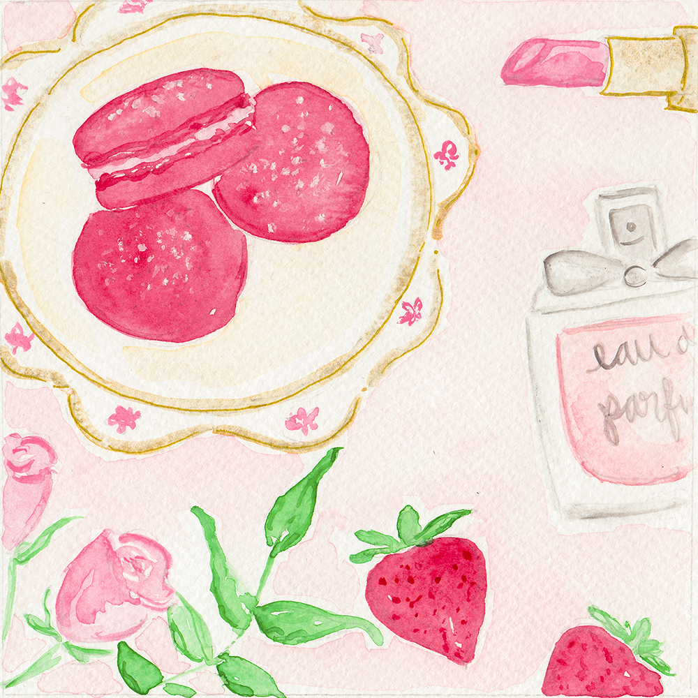 Sweet Darling Patisserie Macaron Illustration by Simply Jessica Marie