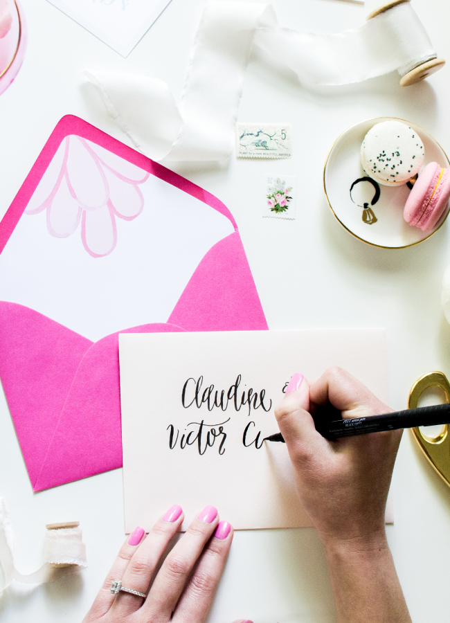 Brush Calligraphy Class by Simply Jessica Marie for The School of Styling Summer School | Zipporah Photography