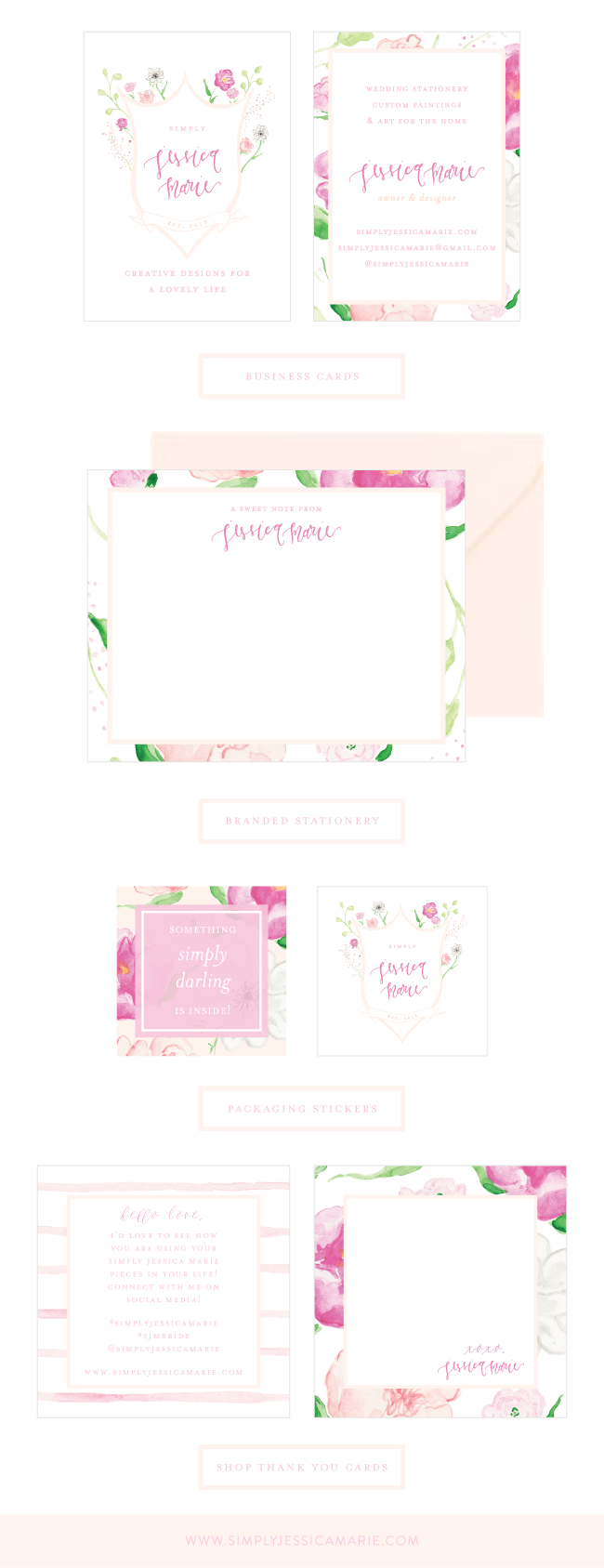 Simply Jessica Marie Brand Collateral