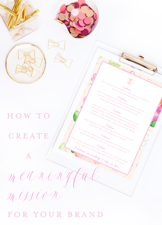 How to Create a Meaningful Mission for Your Brand by Simply Jessica Marie