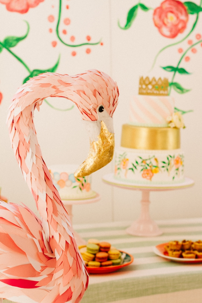 Flowery Flamingo Birthday Party | Simply Jessica Marie Invitation Design | Event Design by Love in Vintage | Pabelona Studio Photography