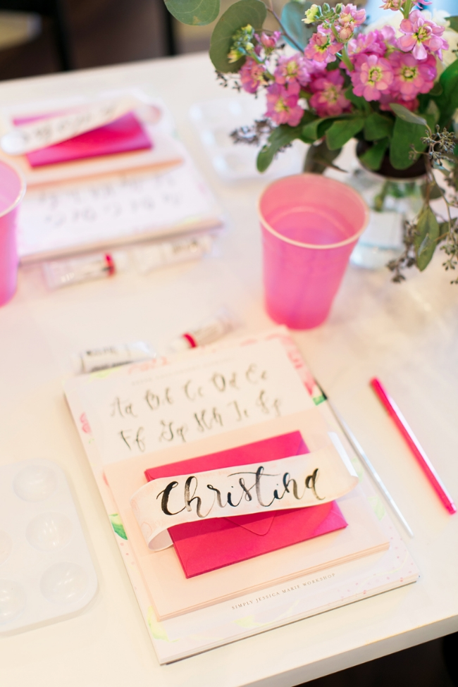 Simply Jessica Marie Brush Calligraphy Workshop at The Bride Room Nashville by Amy Nicole Photography
