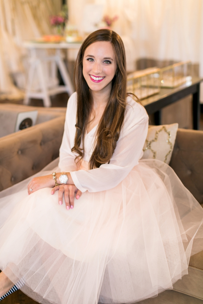 Blush Tulle Skirt Headshots of Simply Jessica Marie by Amy Nicole Photography