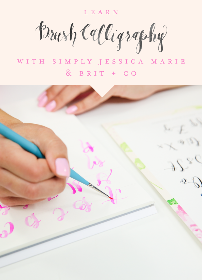 Brush Calligraphy Online Course by Simply Jessica Marie for Brit + Co