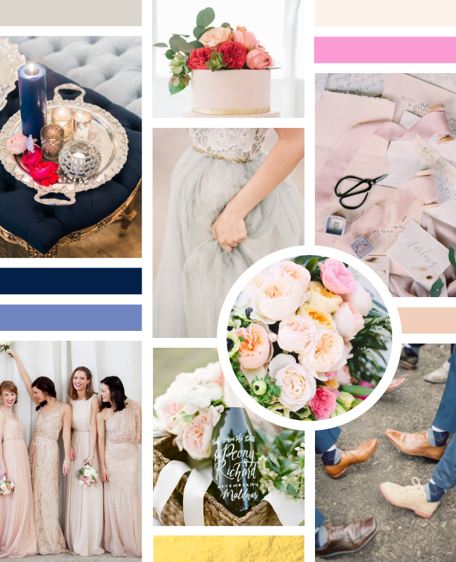 Simply Jessica Marie Wedding Color Palette Inspiration Board