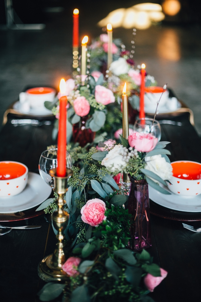 Moody Romantic Valentine's Day Styled Shoot | Jackson Terminal Knoxville | Heather Faulkner Photography