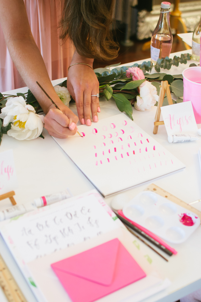 Brush Calligraphy Workshop in New York City taught by Simply Jessica Marie   SJM Workshops