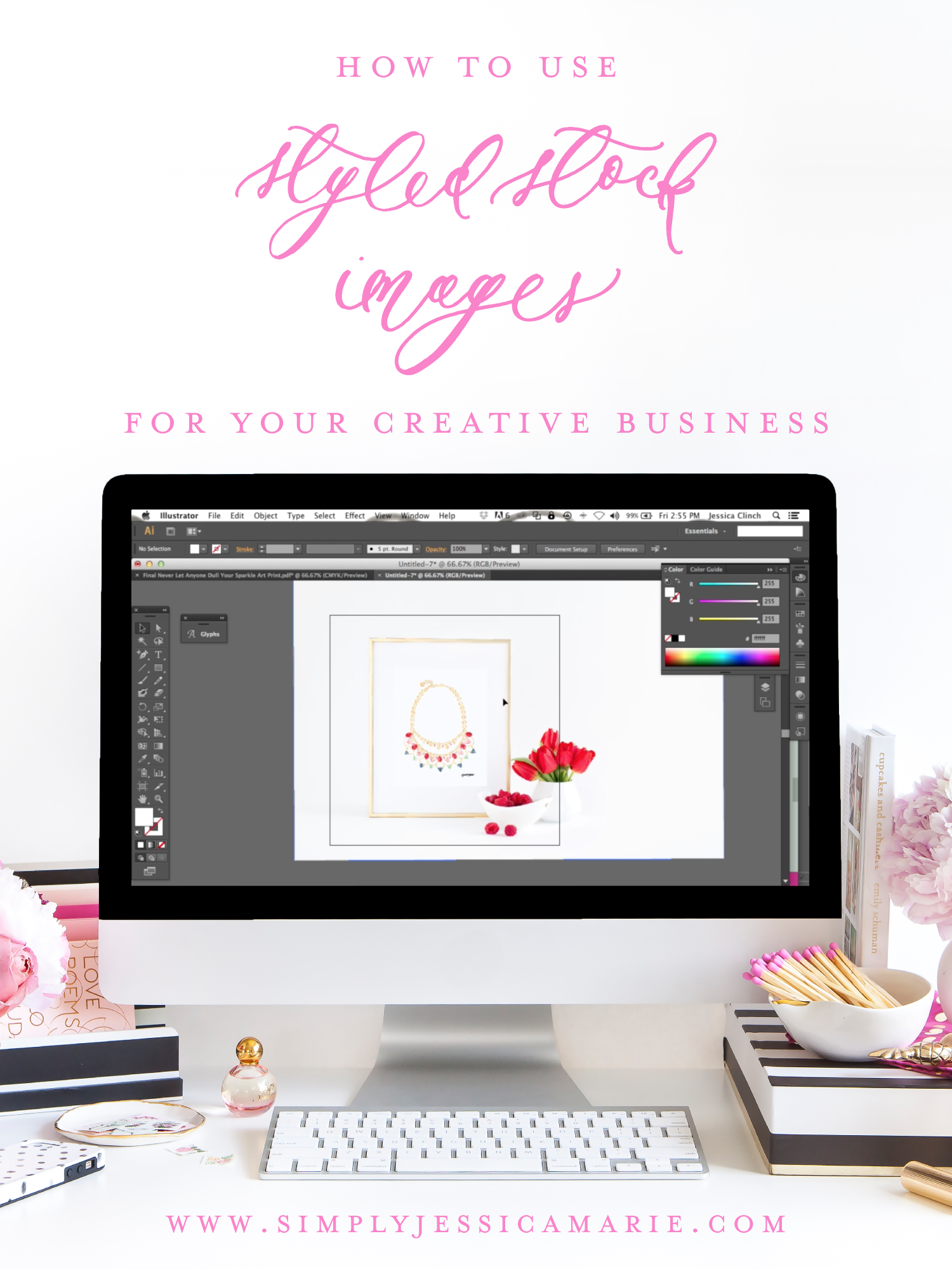 How to Use Styled Stock Images for Your Creative Business | Using Styled Frame Photos for Showcasing Art Prints | Simply Jessica Marie for SC Stockshop