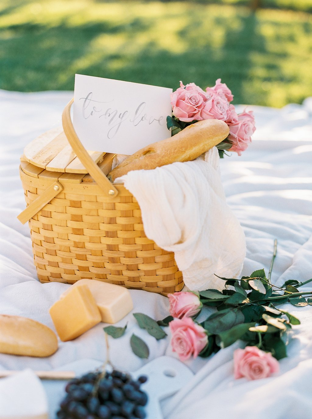 Love Letter and Picnic Engagement Shoot by Simply Jessica Marie Photographed by Perry Vaile