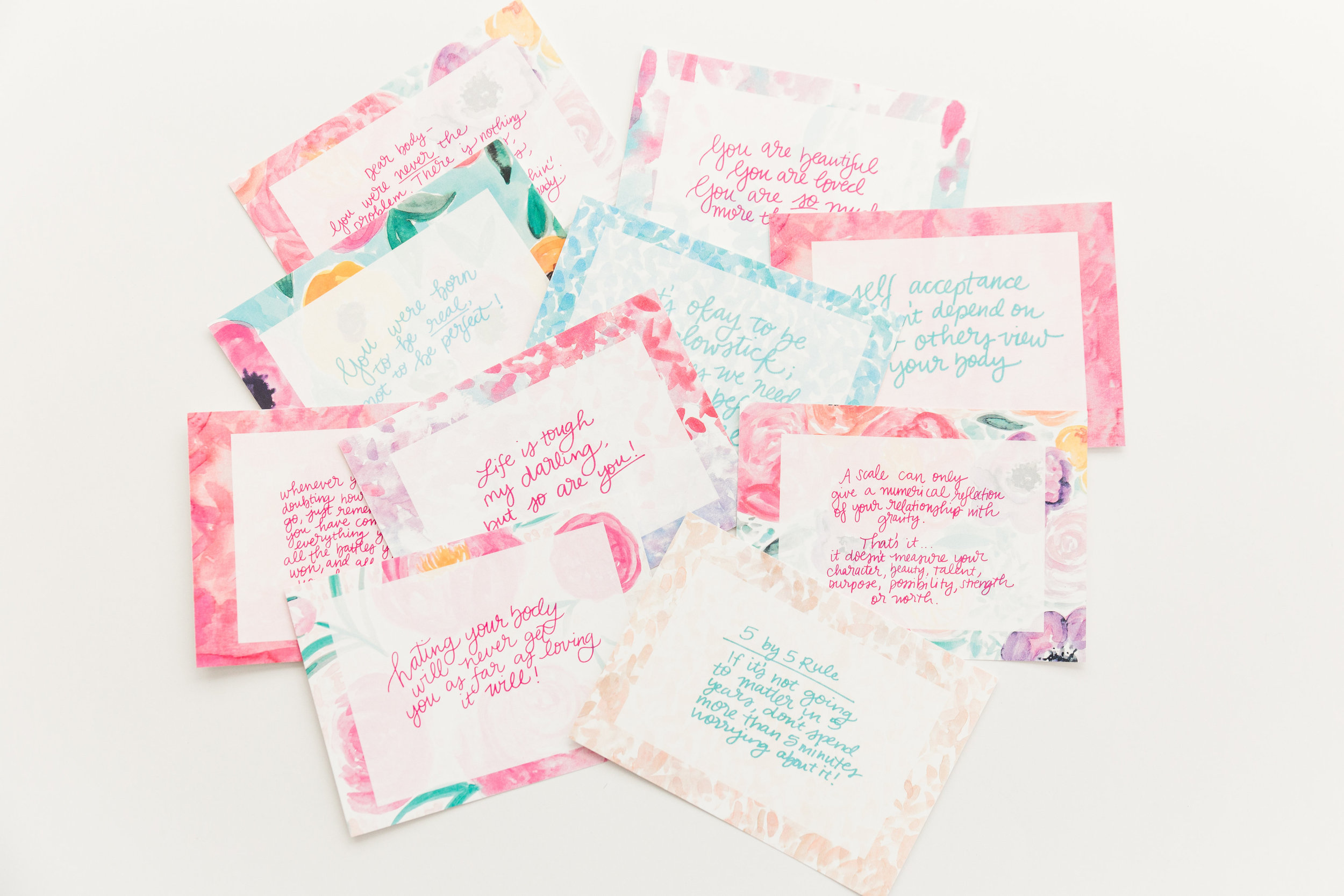 My Body is Enough Project Cards by Rachel Tenny