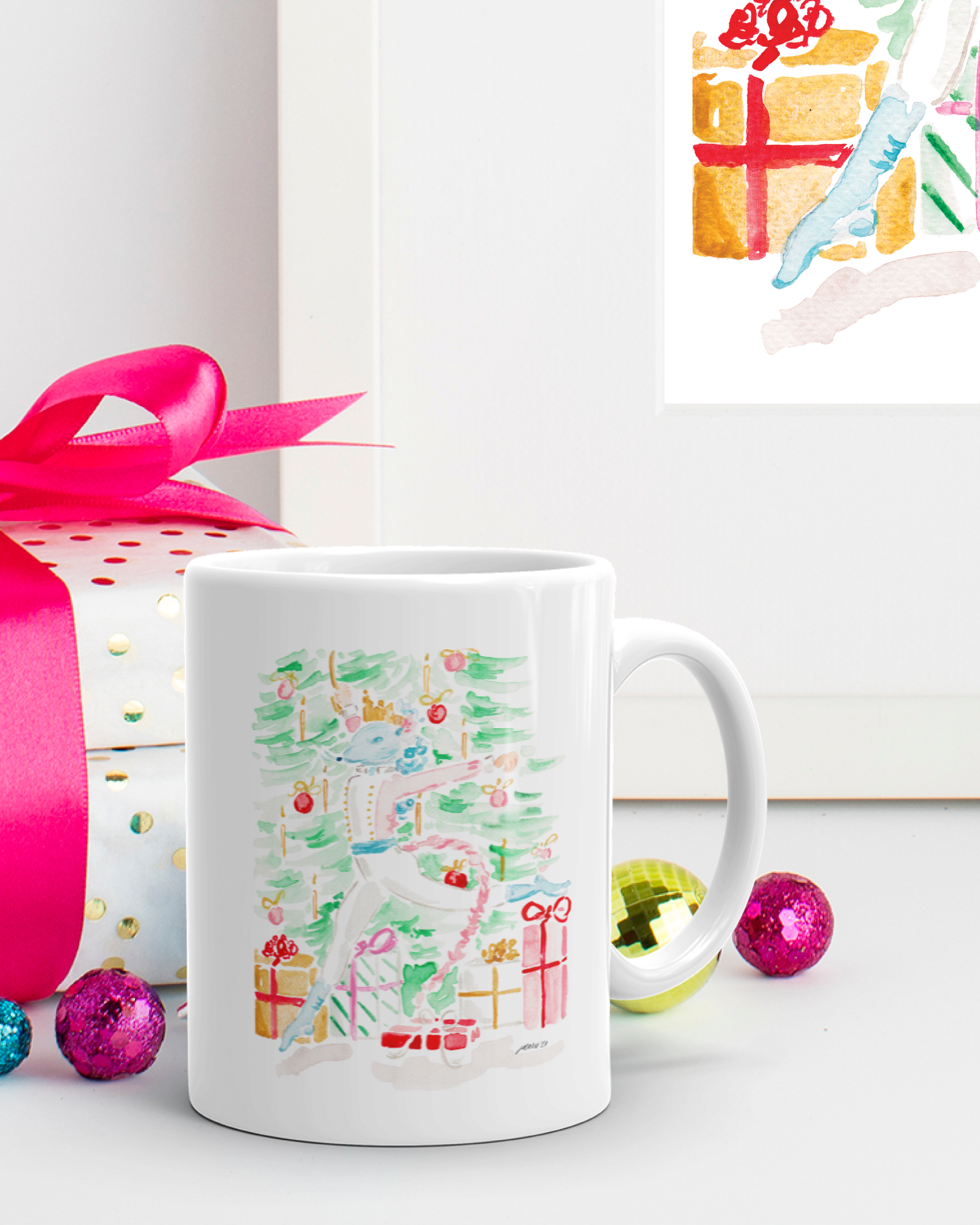 The Nutcracker Mouse King Watercolor Christmas Mug by Simply Jessica Marie