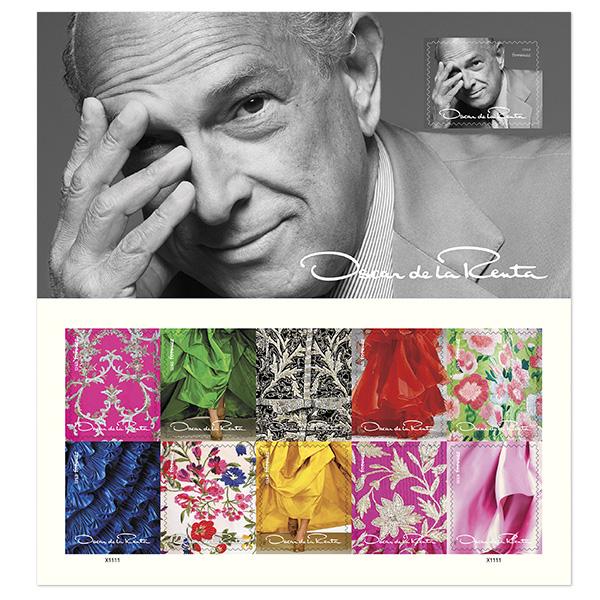 Oscar de la Renta Postage Stamps