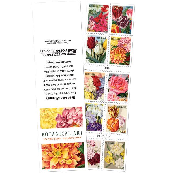 Botanical Art Postage Stamps