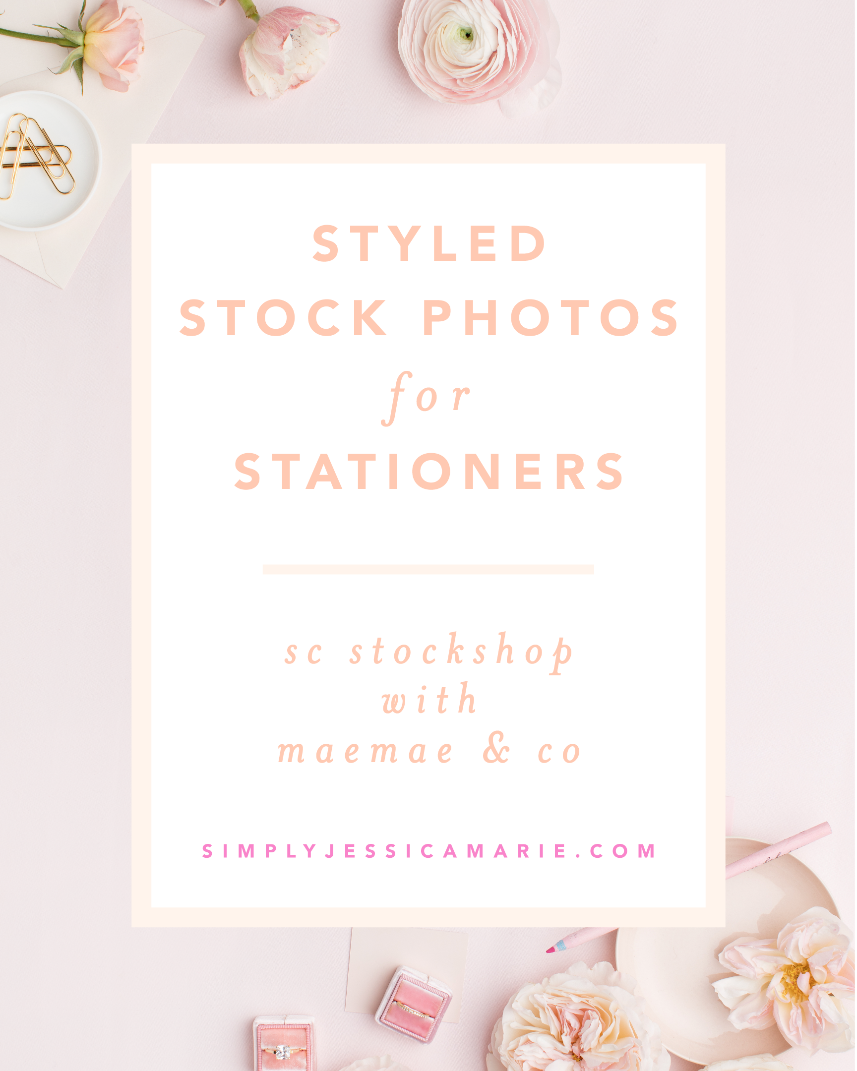 Styled Stock Photos for Stationers, Calligraphers, and Designers | A collaboration with SC Stockshop and MaeMae & Co | Review by Simply Jessica Marie