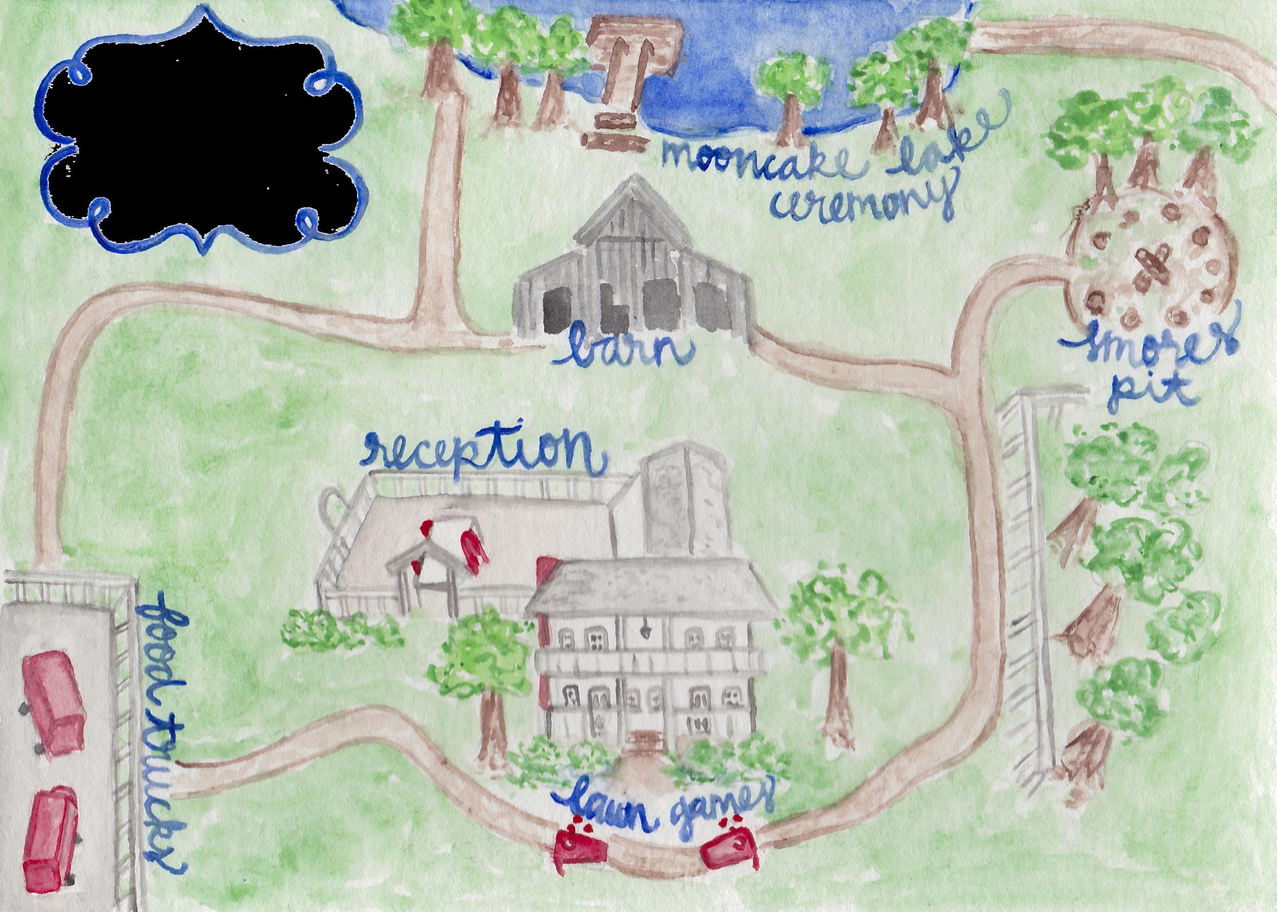Cedarwood Watercolor Map