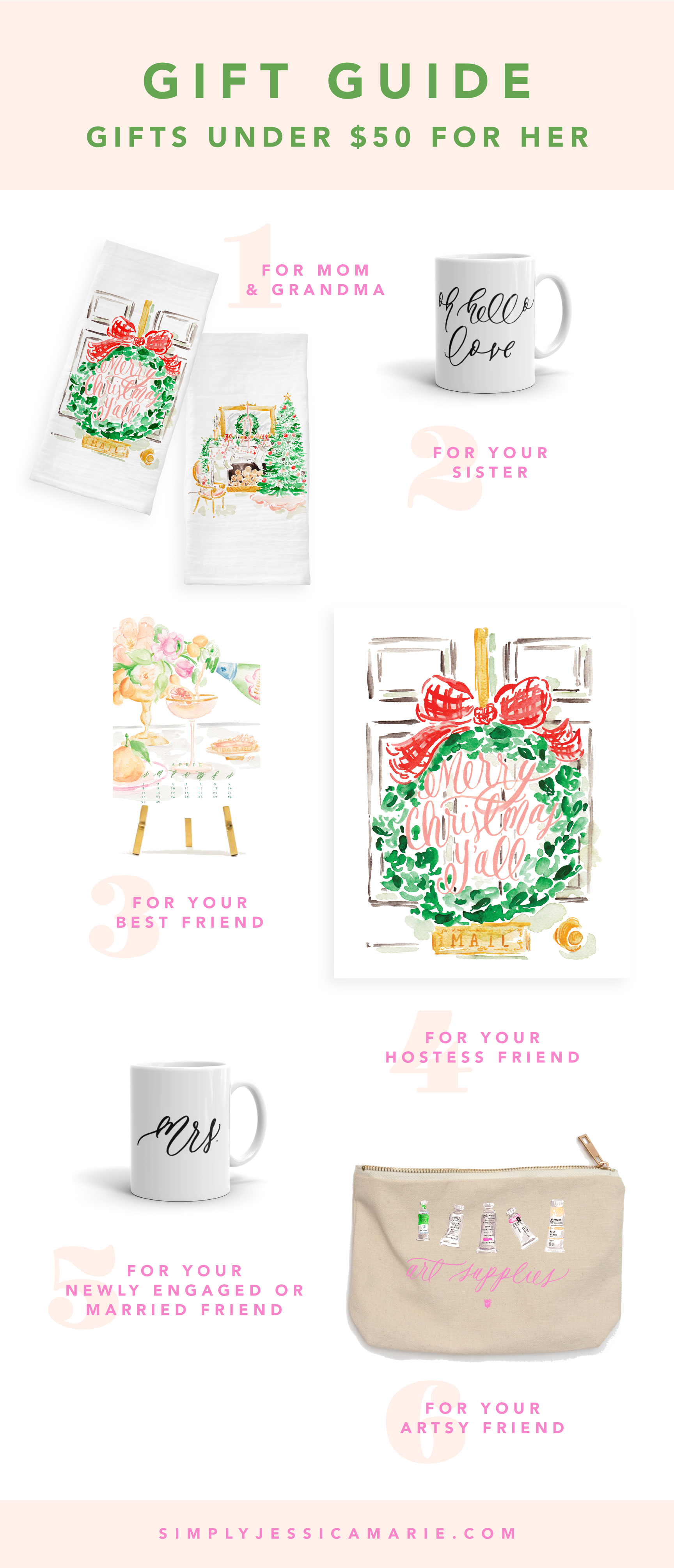 Gift Guide - Gifts Under $50 For Her | Simply Jessica Marie