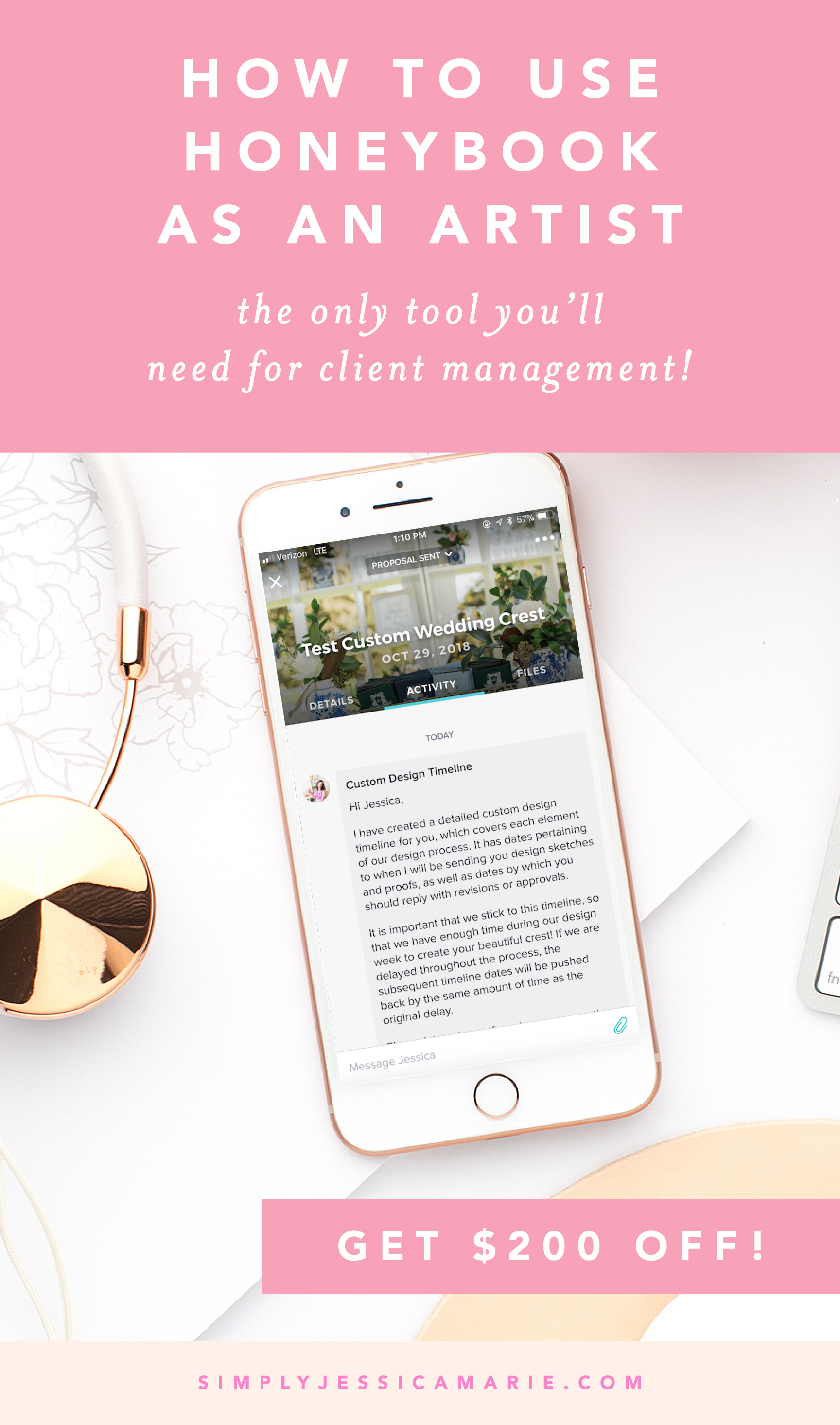 How to Use HoneyBook as an Artist by Simply Jessica Marie   Get $200 Off HoneyBook