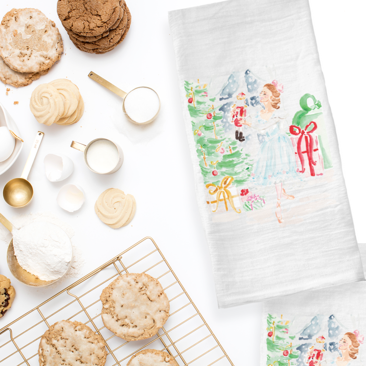 The Nutcracker Tea Towels by Simply Jessica Marie