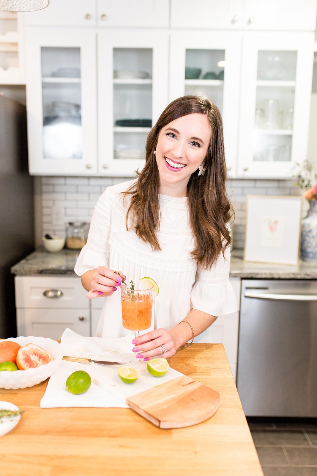 Grapefruit Thyme Margarita by Simply Jessica Marie 2019 Cocktail Calendar Sami Kathryn Photo