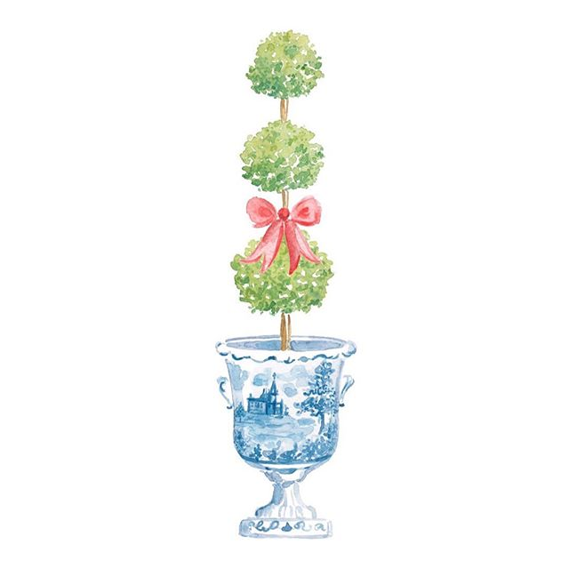 Y'all were SO excited about the sneak peek I shared of this ginger jar topiary I shared in stories today that I just had to show y'all the full painted design! The first official sneak peak of the 2019 Holiday Collection ❤️ . It's also a peek at the 2020 Ginger Jar Calendar! I added the red bow specifically for holiday designs (and omg just wait til you see what products it's on in addition to prints!!), but the topiary without the bow will be featured as one of the calendar month designs, too 💙🤗 It's the very first one I painted for the calendar, so it holds a special place in my heart! . PS - mark your calendar, the Holiday Collection & 2020 Ginger Jar Calendar will Launch in my online shop on Monday, October 28th at 1pm EST!! And make sure you're signed up for the SJM Fam Newsletter so you can get exclusive early access (some of the products will be extremely limited quantity) plus a bigger discount 🎁 . The countdown is on - two weeks y'all!! #simplyjessicamarie #sjmshop