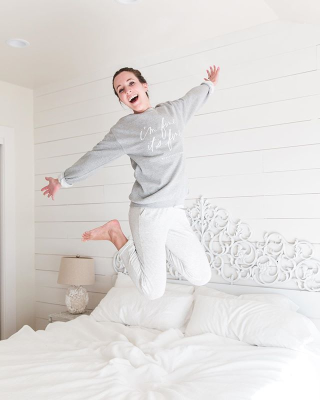 Jumping for joy because it's SUCH a fun week & weekend for so many reasons! . 💕 My friends Laylee & Sarah just opened their beautiful online shop, @giftandgarnish, yesterday - and it's full of the coziest apparel (like this sweatshirt!) and cuuuutest mugs ☕️ Head over to their page to show them some love and definitely grab a thing or two!! . 💕 Tomorrow is my 28th birthday 🥳 I'm going to be celebrating with free shipping on all orders over $28 with code BDAYTREAT tomorrow only 🎉 The code will be active starting at midnight EST tonight and ending at midnight tomorrow night. If you've been thinking of grabbing two 8x10 prints or a bigger print, tomorrow would be the perfect day to do so and save on shipping 🎁 . 💕 This weekend is my high school's 10 year reunion...what?! While I won't be going (since we live halfway across the country now!) that's just still nuts to think about 🤯 . 💕 And, it's Friday! Time to finish a few crest design projects then settle in for a weekend at home with my two loves (Zack & Oscar 🐶) I hope y'all have the best day! . Photo by @samikathryn #giftandgarnish