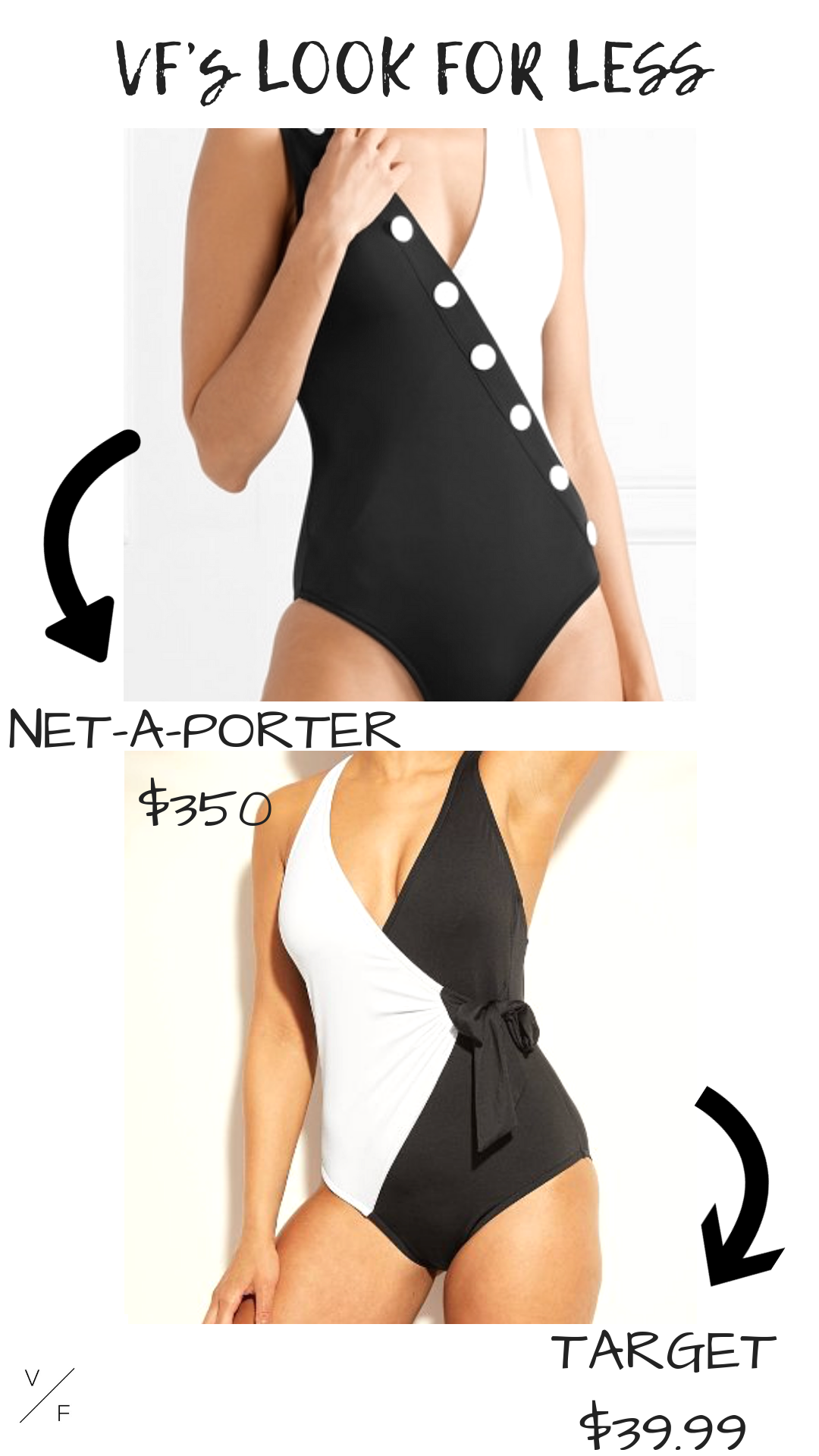 LOOK : https://www.net-a-porter.com/us/en/product/1180784   FOR LESS:  https://www.target.com/c/one-piece-swimsuits-women-s-clothing/black/-/N-5xtbuZ5y761?type=products&facetRecovery=true&lnk=BlackOnePieceSw&Nao=96