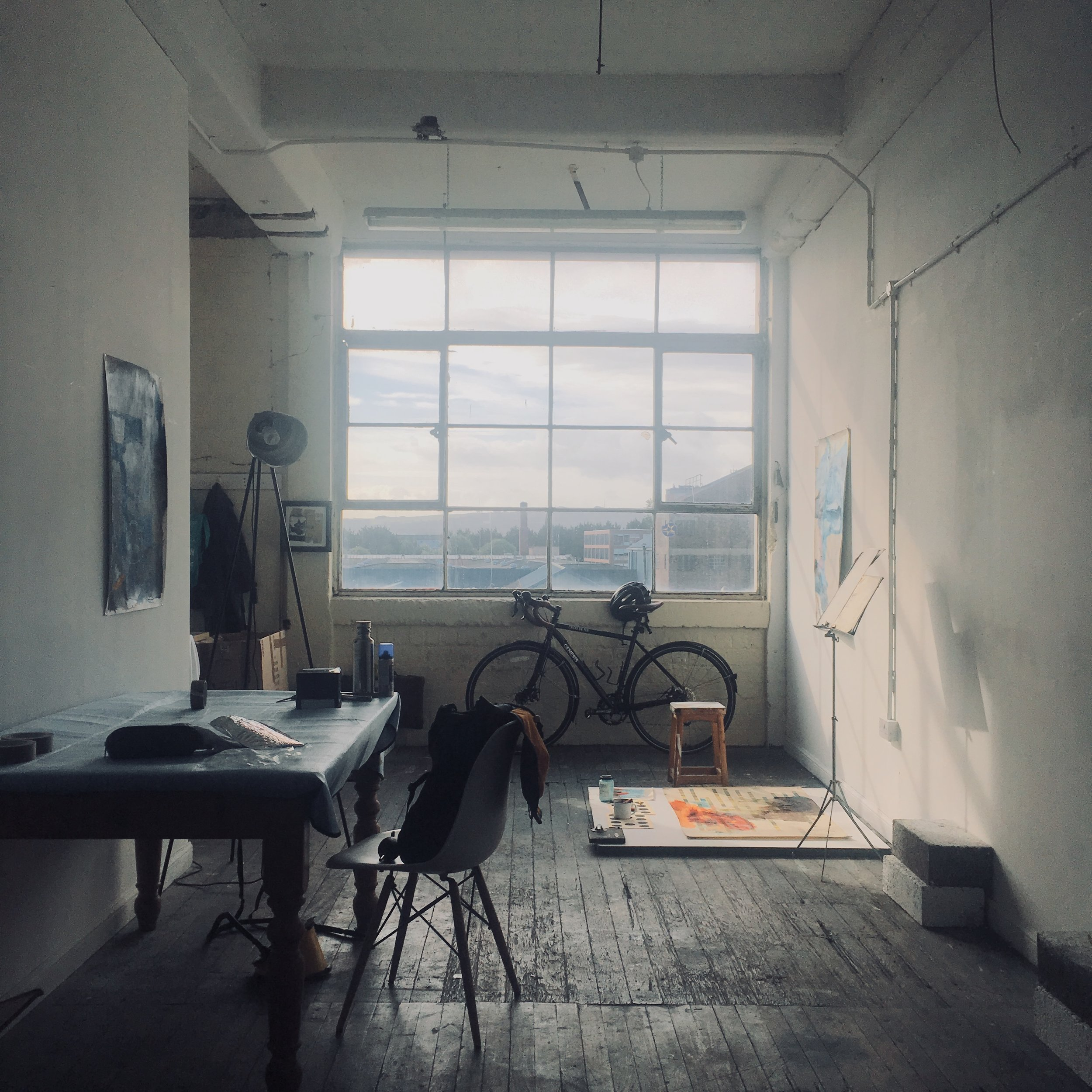 My brothers studio in Glasgow
