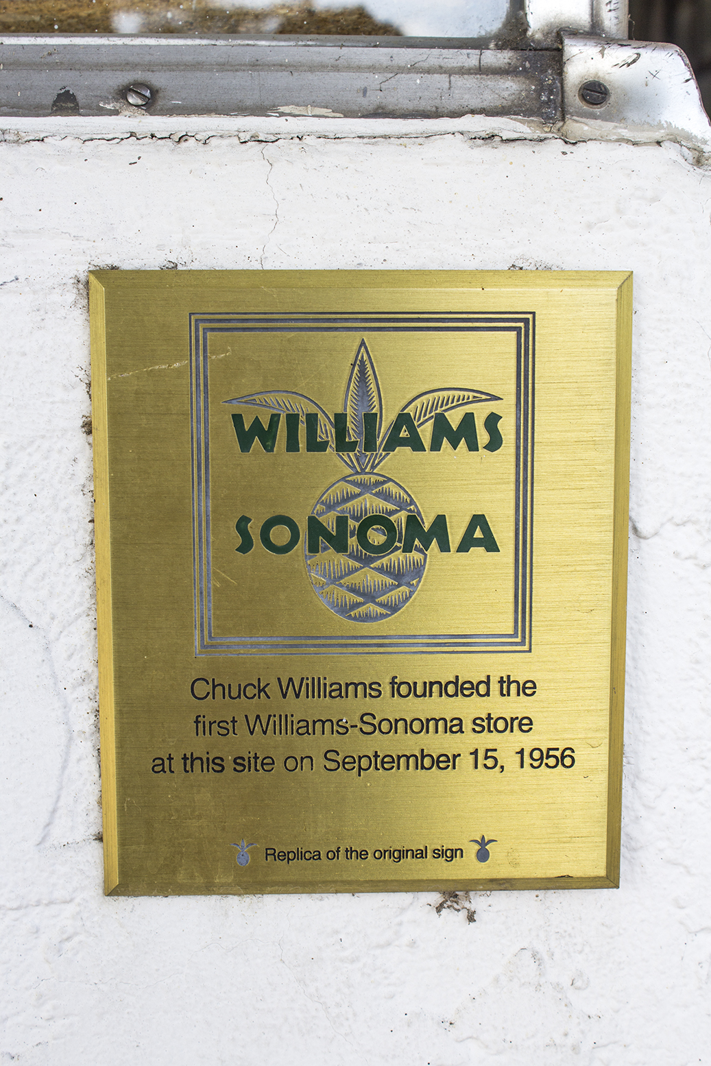 The location of the first Williams-Sonoma store. 601 Broadway, Sonoma.