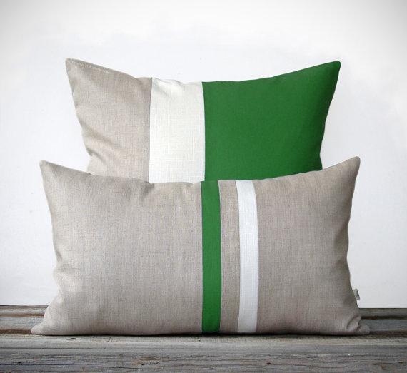 Kelly Green Pillow Set - JillianReneDecor, Etsy