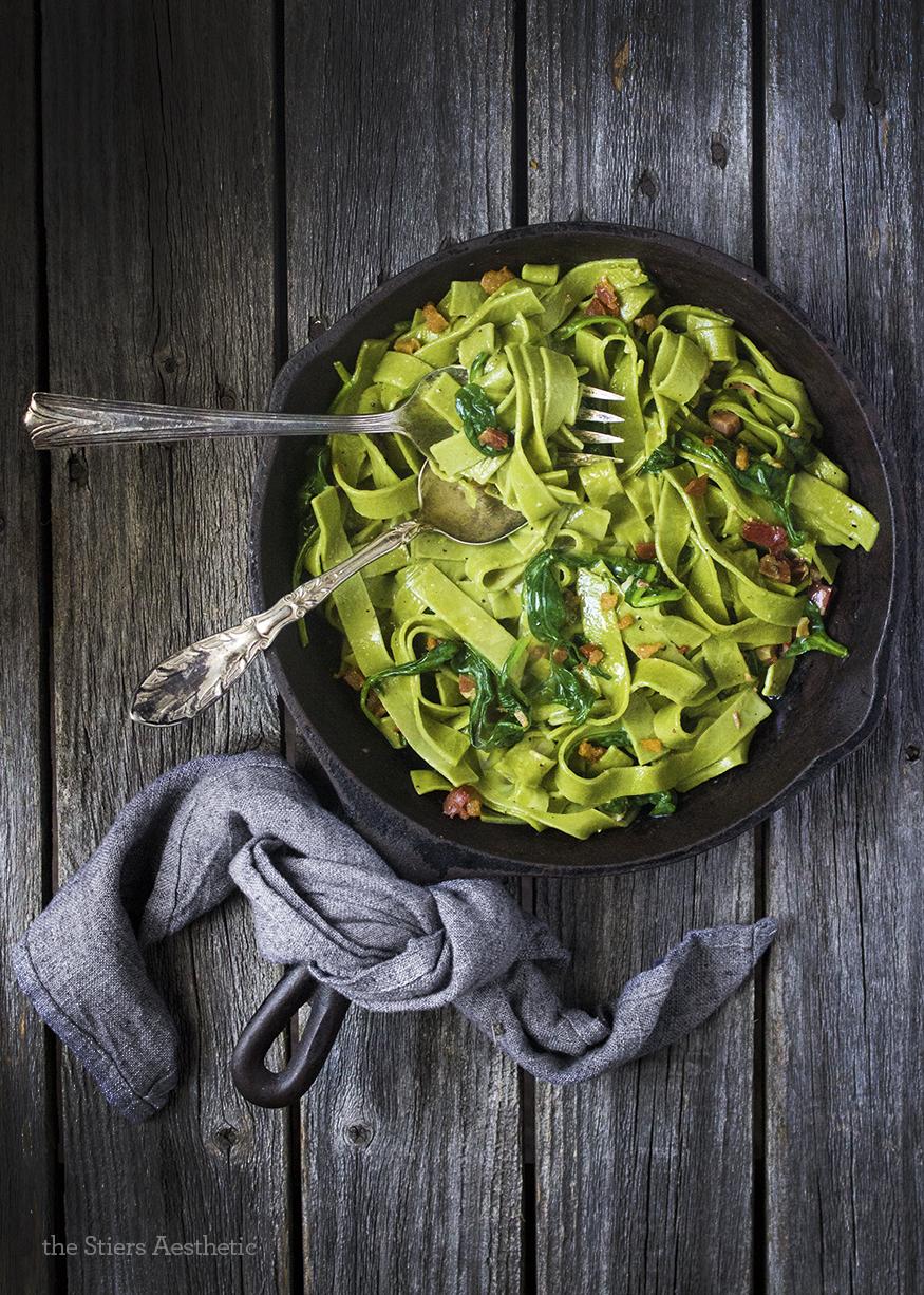 Spinach Carbonara