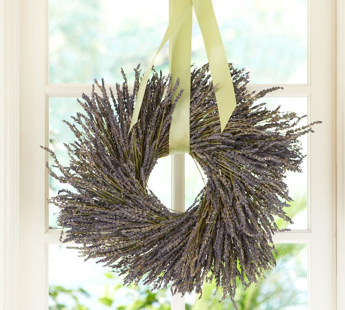 Dried lavender wreath - Pottery Barn