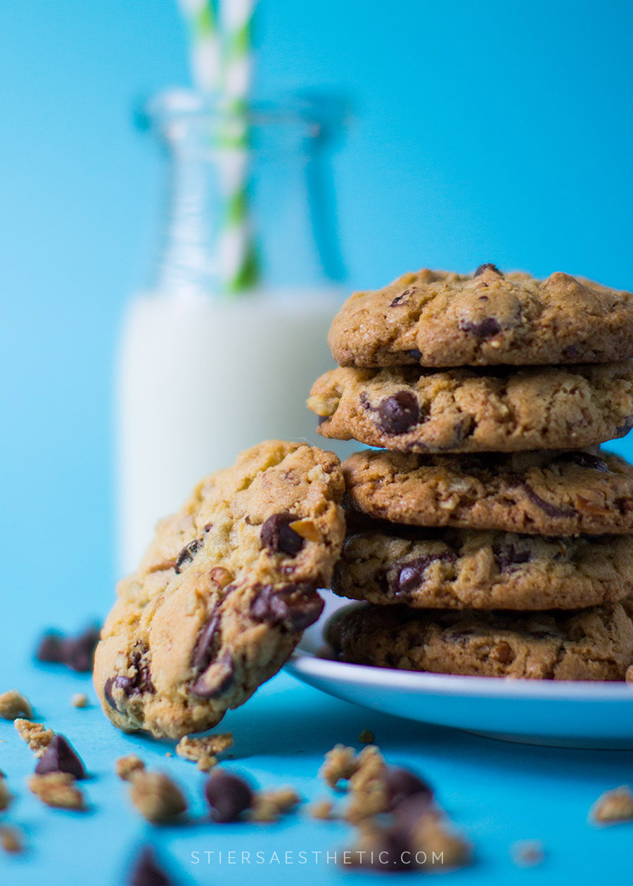Salted Chocolate Granola Cookies
