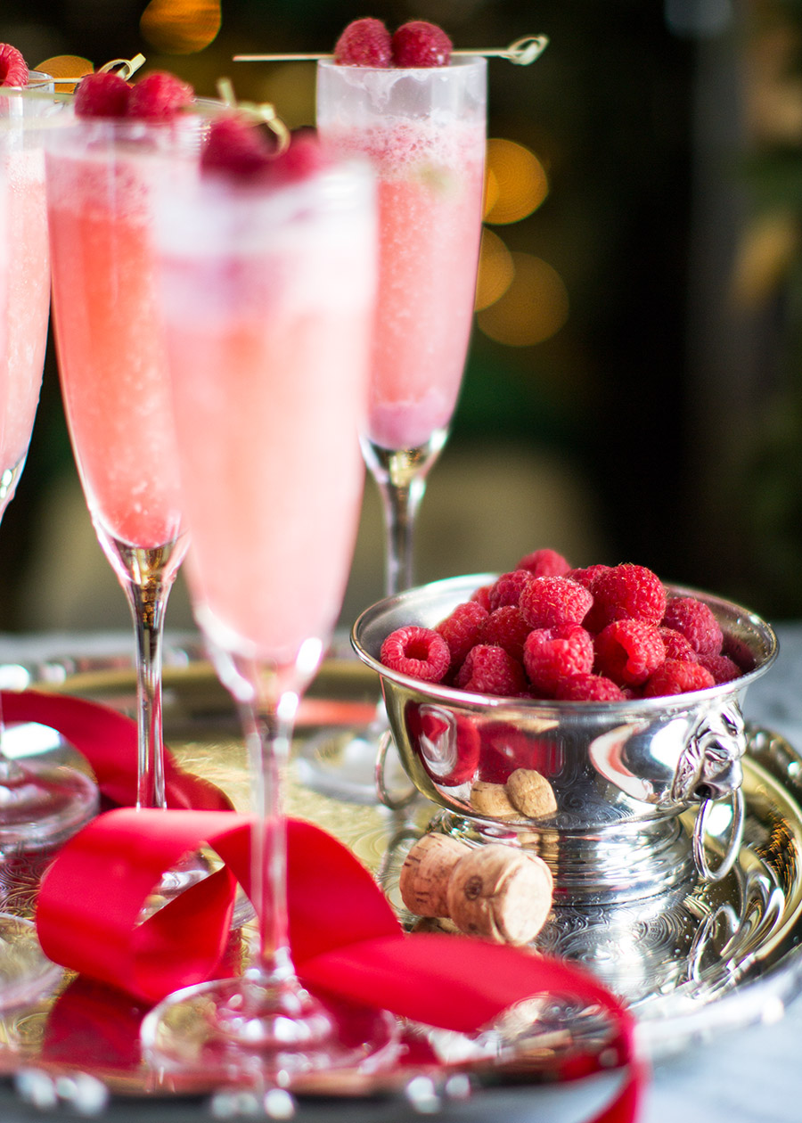 Raspberry Cream Mimosas - The Stiers Aesthetic