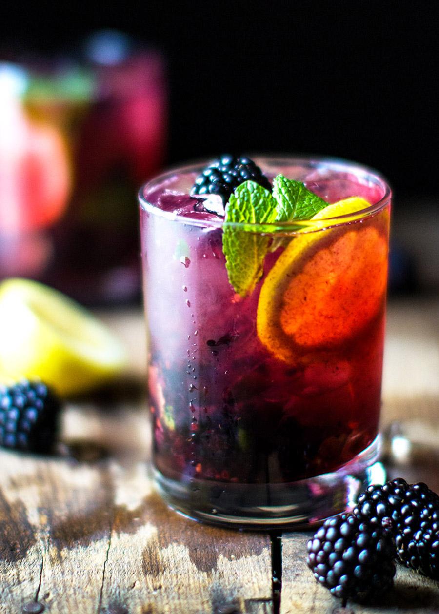 Blackberry LemonGin & Tonic -