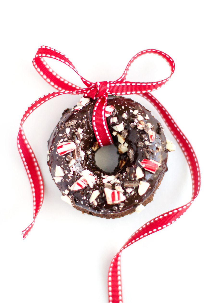 Peppermint Bark Chocolate Donuts