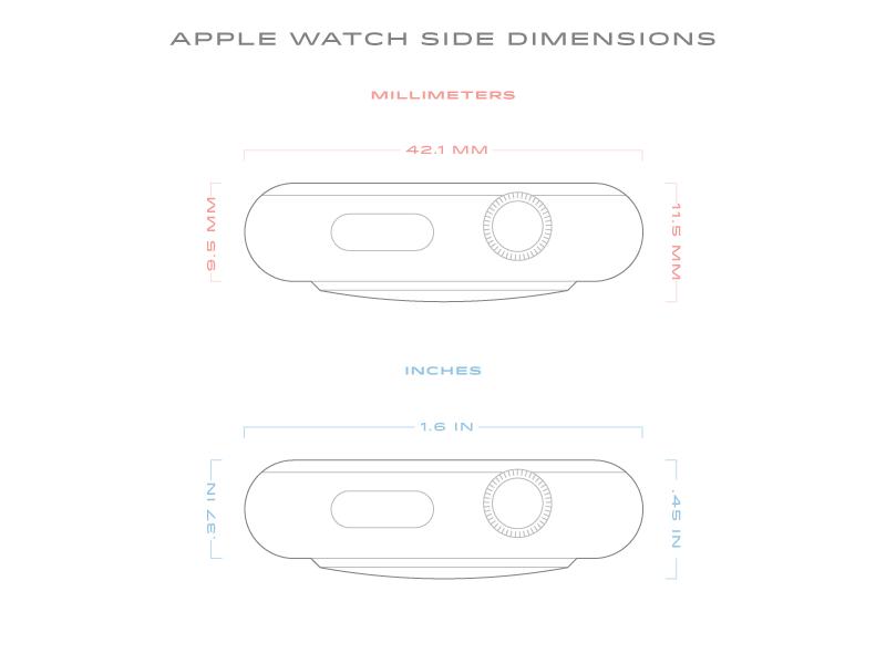 Apple Watch Dimensions Side