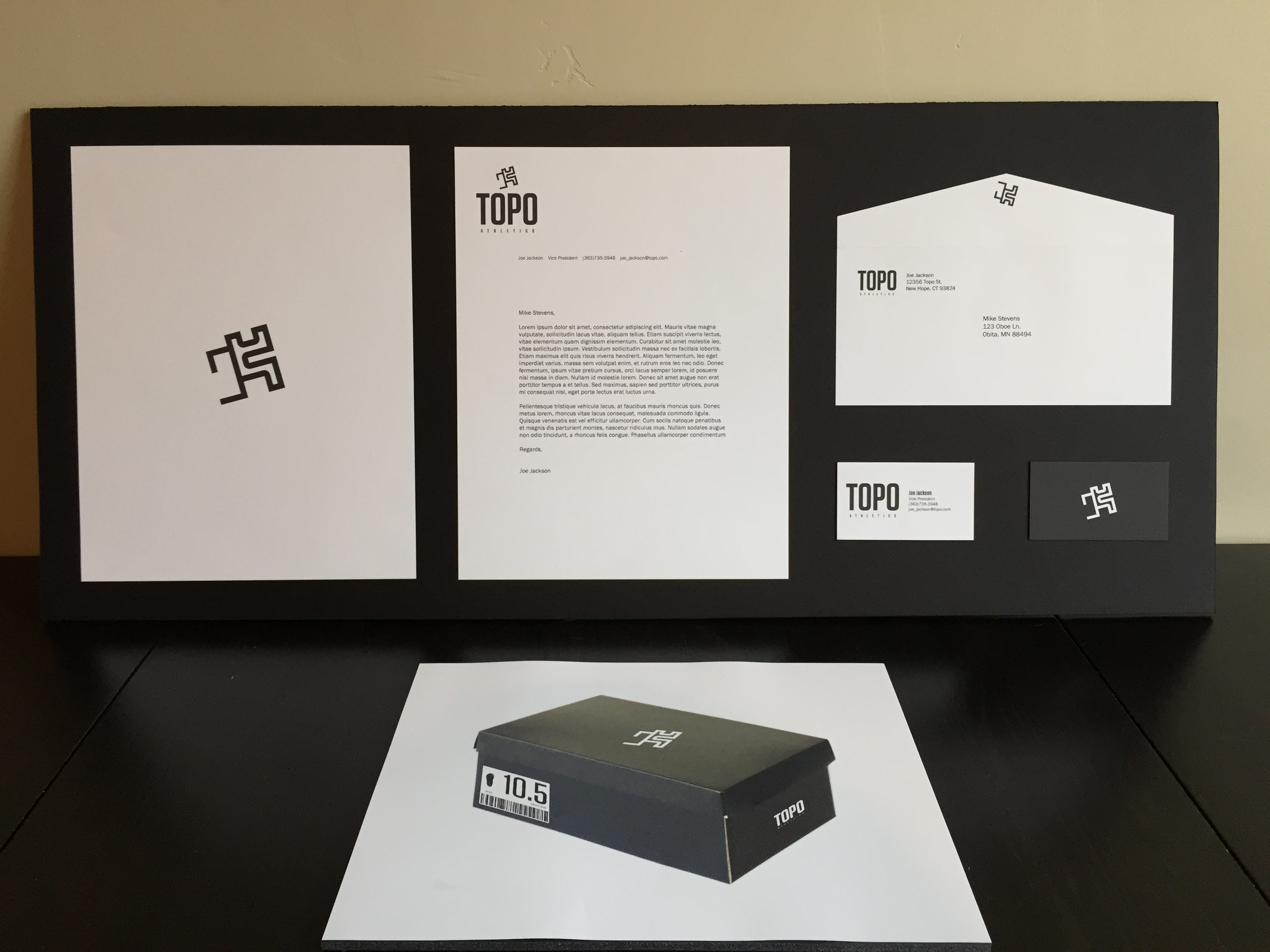 Topo: A Sportswear Company   Designed by a Advertising major