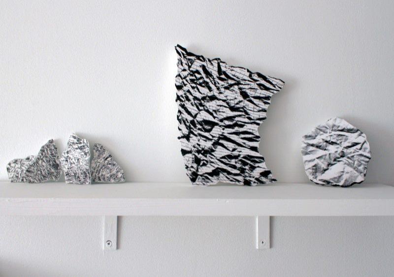 Lynette Miranda, Records (set 1) , 2013;Foam sculptures with digital prints;Variable dimensions