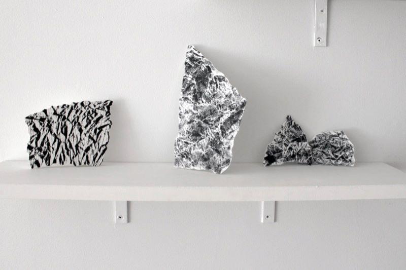 Lynette Miranda, Records (set 2) , 2013;Foam sculptures with digital prints;Variable dimensions