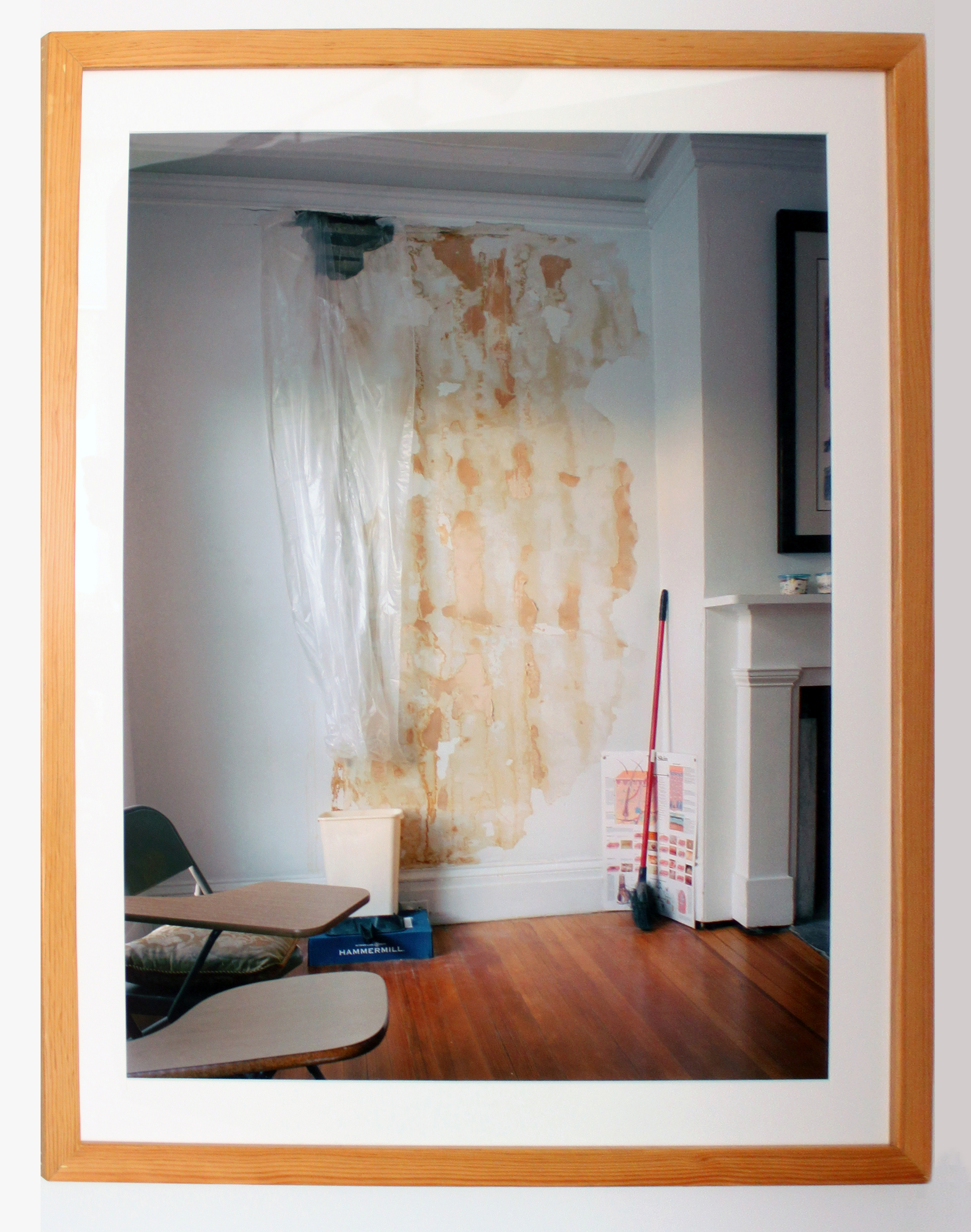 Lindsey Filowitz,  Skin Wall  , 2011; 120mm film; 30 x 24 inches; Framed: 34 1/4 x 28 inches