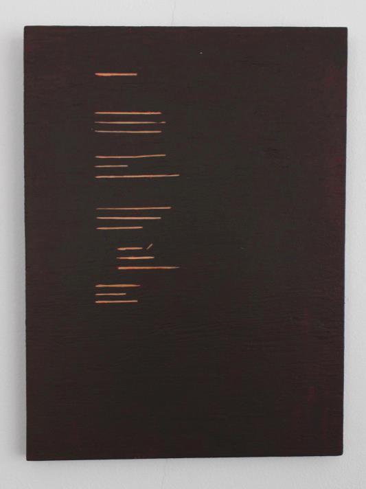 Emma Quaytman,  AM Reader 1 , 2013; Acrylic on board; 11 x 8 inches