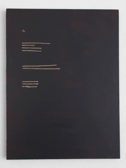 Emma Quaytman, AM Reader 2 , 2013; Acrylic on board; 11 x 8 inches